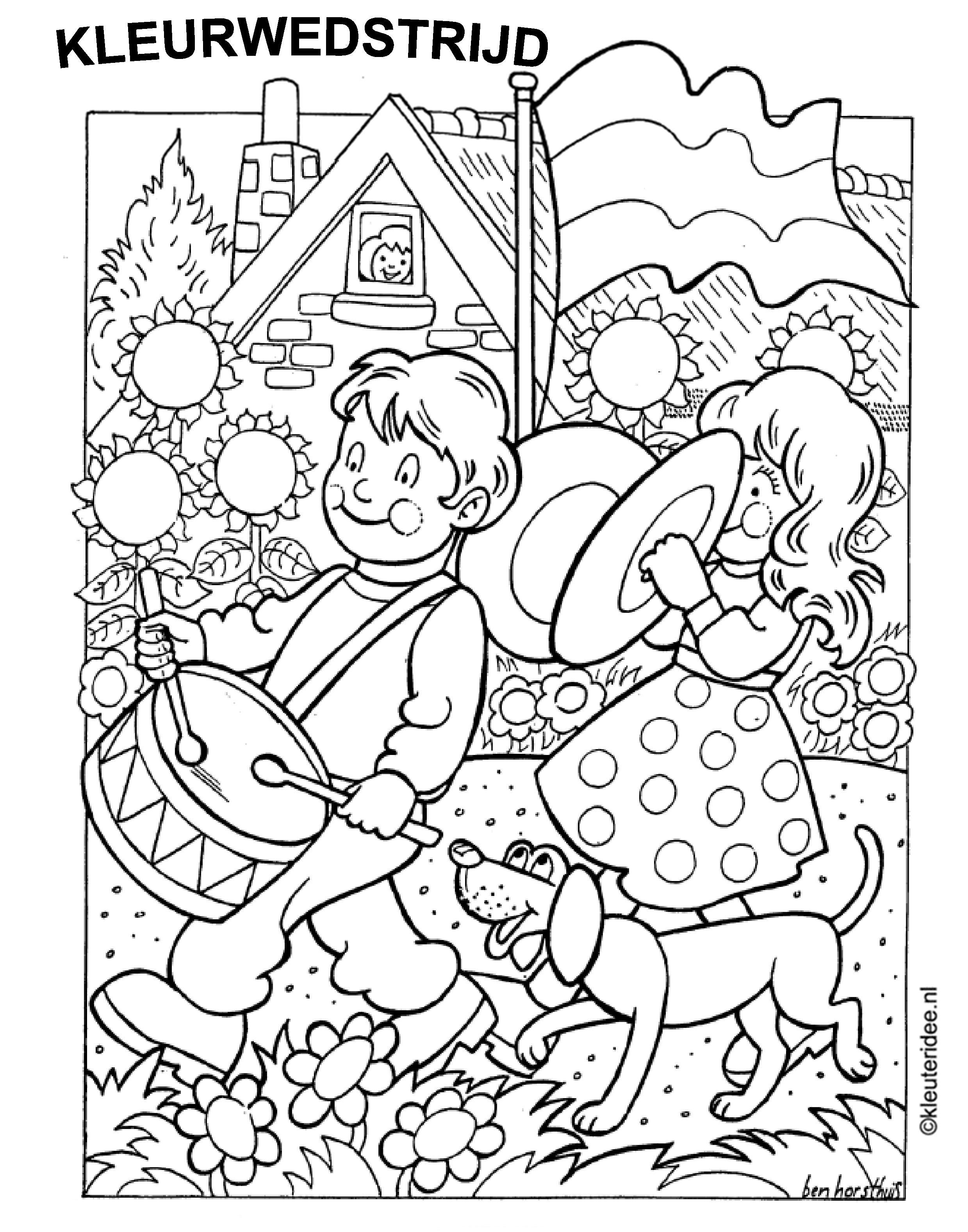 kleurplaat prinsjesdag 2015 kidkleurplaat nl